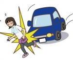 ランニングしている女性が自動車にひかれた交通事故